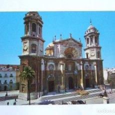 Postales: POSTAL CADIZ - CATEDRAL - FACHADA PRINCIPAL -1962 - SICILIA1 - SIN CIRCULAR. Lote 73304587