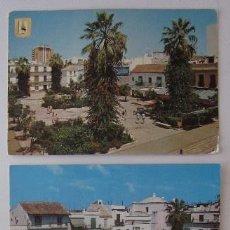 Postales: DOS POSTALES: SANLUCAR DE BARRAMEDA - PLAZA DEL CABILDO. Lote 73525483