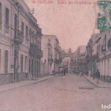POSTAL HUELVA - CALLE DEL ALMIRANTE PINZON . 16 INGLESA - CIRCULADA