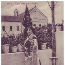 Postales: SEVILLA: TIPOS ANDALUCES - GRACIA. COL. M. CHAPARTEGUY. NO CIRCULADA (AÑOS 10). Lote 74182615