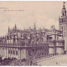 Postales: SEVILLA: VISTA GENERAL DE LA CATEDRAL. M. CHAPARTEGUY. CIRCULADA (AÑOS 10). Lote 74183243
