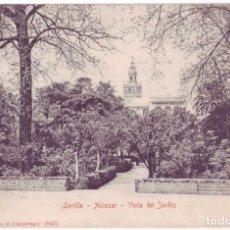 Postales: SEVILLA: ALCÁZAR. VISTA DEL JARDÍN. M. CHAPARTEGUY. REVERSO SIN DIVIDIR. NO CIRCULADA (1905). Lote 74186099