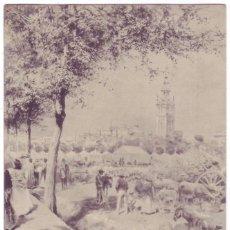 Postales: SEVILLA: LA FERIA DE SEVILLA. HAUSER Y MENET. SIN DIVIDIR. CIRCULADA (ANTERIOR A 1905). Lote 74190359