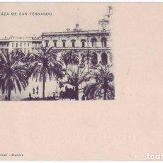 Postales: SEVILLA: PLAZA DE SAN FERNANDO. HAUSER Y MENET. REVERSO SIN DIVIDIR. NO CIRCULADA C.1900. Lote 74191891