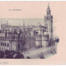 Postales: SEVILLA: LA CATEDRAL. HAUSER Y MENET. REVERSO SIN DIVIDIR. NO CIRCULADA C.1900. Lote 74192031
