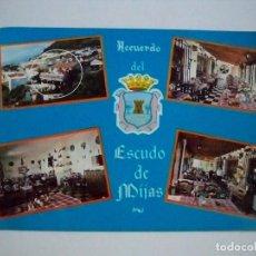 Postales: POSTAL MALAGA - MIJAS - RESTAURANTE EL ESCUDO DE MIJAS - 1970 - CINEFILM 2662 - SIN CIRCULAR. Lote 75719679