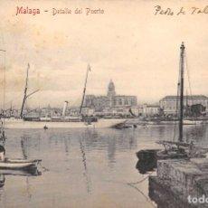 Postales: MÁLAGA.- DETALLE DEL PUERTO. Lote 75973455
