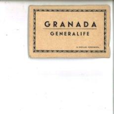 Postales: GRANADA. GENERALIFE. 10 POSTALES FOROGRAFÍA. L. ROISIN. Lote 76624691