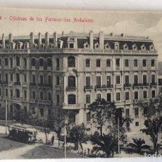 Postales: POSTAL. OFICINAS DE LOS FERROCARRILES ANDALUCES. MÁLAGA.. Lote 76900003