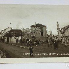 Postales: ANTIGUA POSTAL DE COIN - MALAGA - PLAZA DE SAN AGUSTIN Y CALLE CARIDAD - NO CIRCULADA . Lote 77318541
