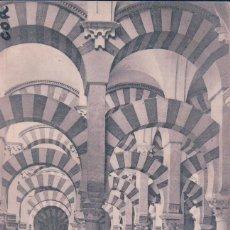 Postales: POSTAL DE CORDOBA. LA MEZQUITA. NAVE DE COLUMNAS. II. R. BAENA - HAUSER. Lote 78147057