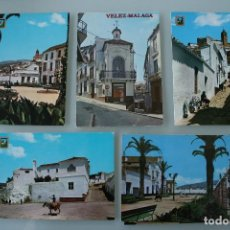 Postales: ANTIGUAS POSTALES VELEZ-MALAGA: PLAZA JOSE ANTONIO, DEL CARMEN, IGLESIA, CALLE TIPICA… – AÑOS 60 . Lote 78272709