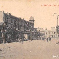 Postales: HUELVA.- PLAZA DE LAS MONJAS. Lote 78543001