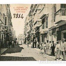 Postales: CADIZ PUERTO DE SANTA MARIA, CALLE LARGA. . FOTOTIPIA THOMAS. SIN CIRCULAR. Lote 78676217