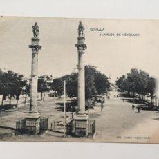Postales: POSTAL, 376 HAUSER Y MENET, SEVILLA, ALAMEDA DE HERCULES. Lote 80365289