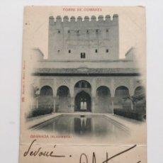 Postales: POSTAL,164 HAUSER Y MENET, GRANADA, ALHAMBRA, TORRE DE COMARES. Lote 80372091