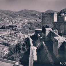Postales: POSTAL GRANADA - TORRES DE LA ALHAMBRA Y ALBAICIN 57 - DOMINGUEZ. Lote 80444421