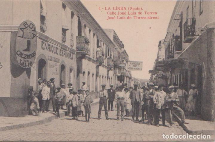 LA LINEA (CÁDIZ) - CALLE JOSE LUIS DE TORRES - EDICIÓN LA VALENCIANA (Postales - España - Andalucía Antigua (hasta 1939))