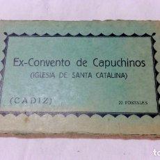 Postales: ALBUM 20 POSTALES EX-CONVENTO DE CAPUCHINOS. CADIZ. FOTOS L. ROISIN. Lote 80804107