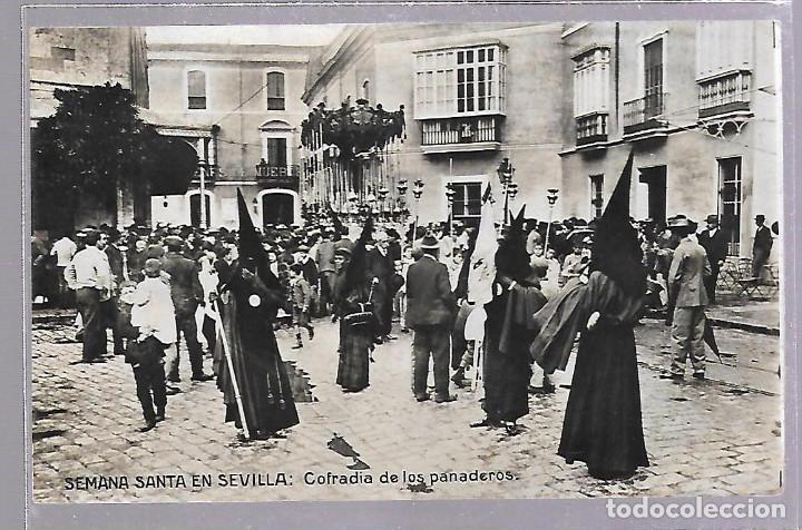 TARJETA POSTAL DE SEVILLA. SEMANA SANTA - COFRADIA DE LOS PANADEROS. ERNESTO MADRID (Postales - España - Andalucía Antigua (hasta 1939))