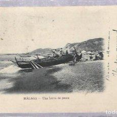 Postales: TARJETA POSTAL DE MALAGA - UNA BARCA DE PESCA. Nº 10. R.ALVAREZ MORALES. Lote 80912268
