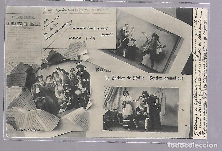 TARJETA POSTAL DE LE BARBIER DE SEVILLE / EL BARBERO DE SEVILLA. SECCION DRAMATICA. VER (Postales - España - Andalucía Antigua (hasta 1939))