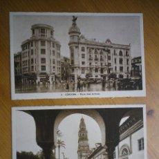 Postales: 2 POSTALES CORDOBA PLAZA JOSE ANTONIO - PATIO DE LOS NARANJOS. Lote 81183828