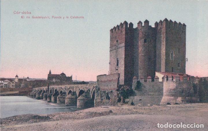 POSTAL CORDOBA - EL RIO GUADALQUIVIR, PUENTE Y LA CALAHORRA - GONZALEZ - COLOR (Postales - España - Andalucía Antigua (hasta 1939))