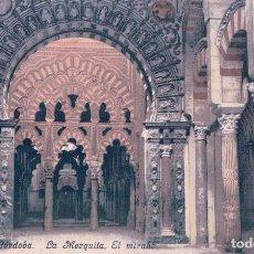 Postales: POSTAL CORDOBA - LA MEZQUITA - EL MIRAHB - PURGER & CO 2751. Lote 81611976