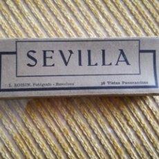 Postales: ANTIGUO ÁLBUM ACORDEÓN 36 VISTAS PANORÁMICAS DE SEVILLA. ROISIN. Lote 124618728