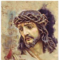 Postales: MÁLAGA: SEMANA SANTA. SANTO CRISTO CORONADO DE ESPINAS. HERMANDAD DE LOS ESTUDIANTES.. Lote 121995479