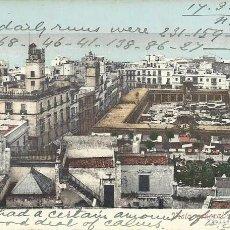 Postales: POSTAL CADIZ.VISTA GENERAL Y EL MERCADO.CIRCULADA.PURGER.REVERSO SIN DIVIDIR.. Lote 83088192