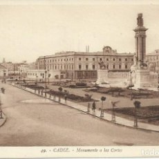 Postales: POSTAL CADIZ.Nº49.MONUMENTO A LAS CORTES.ROISIN.. Lote 83201632