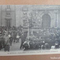 Postales: POSTAL SEMANA SANTA SEVILLA, JESUS ATADO A LA COLUMNA, CAPILLA FABRICA DE TABACOS. Lote 83418420