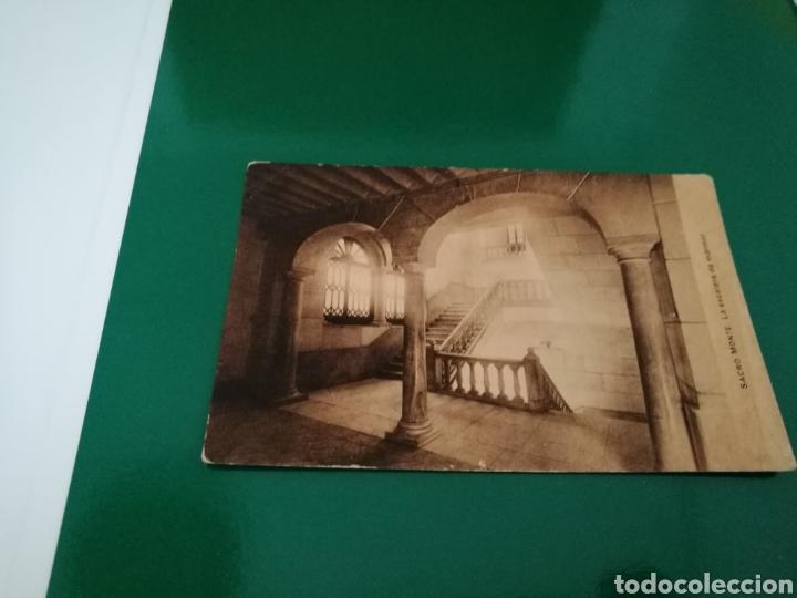 POSTAL DEL SACRO MONTE DE GRANADA. LA ESCALERA DE MÁRMOL. AÑOS 20.HUECOGRABADO MUMBRÚ (Postales - España - Andalucía Antigua (hasta 1939))