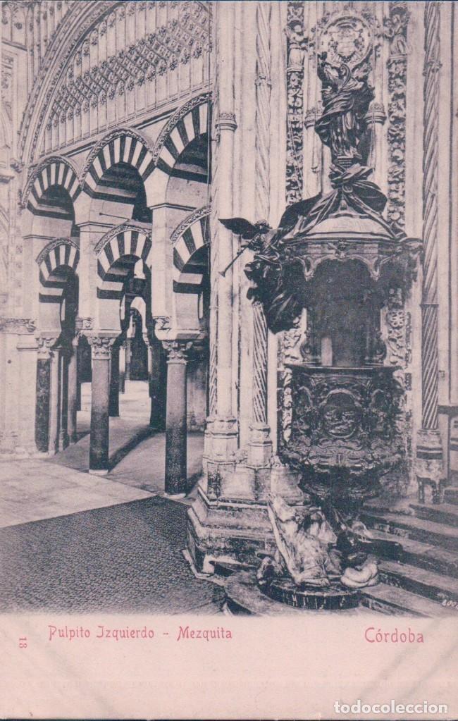 POSTAL CORDOBA 18 - PULPITO IZQUIERDO - MEZQUITA - STENGEL & CO - SELLO J.O.BETELLE NEW YORK (Postales - España - Andalucía Antigua (hasta 1939))