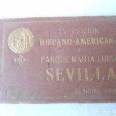 Postales: LIBRITO CON 12 POSTALES A COLOR SEVILLA EXPOSICION 1927 COMPLETO. Lote 85031504