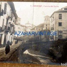 Postales: GRANADA , POSTAL FOTOGRAFICA CARRERA DEL DARRO, REVERSO PUBLICIDAD CHOCOLATES. Lote 85493564