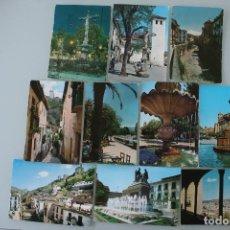 Postales: ANTIGUAS POSTALES GRANADA: PUERTA REAL, DARRO, CALLE PLAZA TIPICA, PLAZA NUEVA ,ALBAICIN..– AÑOS 60 . Lote 85661588