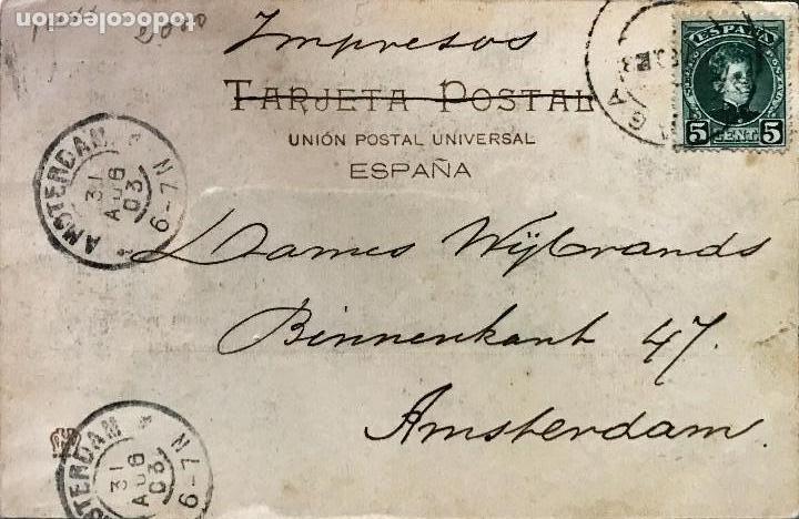 Postales: MALAGA. PLAZA DE TOROS Y FAROLA. Nº 263. HAUSER Y MENET - Foto 2 - 194158913