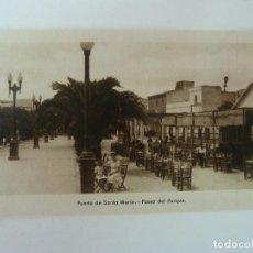 Cartes Postales: PUERTO DE SANTA MARÍA. CÁDIZ. PASEO DEL PARQUE. GRÁFICAS ANDALUZAS.. Lote 86708692