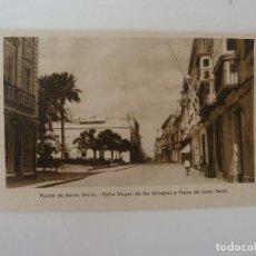 Cartes Postales: PUERTO DE SANTA MARÍA. CÁDIZ. CALLE VIRGEN DE LOS MILAGROS Y PLAZA ISAAC PERAL. GRÁFICAS ANDALUZAS.. Lote 86712260