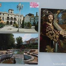 Postales: ANTIGUAS POSTALES PRIEGO DE CORDOBA: FUENTE DEL REY PLAZA CALVO SOTELO JESUS NAZARENO – AÑOS 60 . Lote 87140460