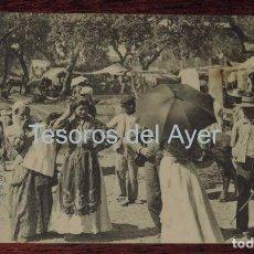 Postales: POSTAL DE SAN ROQUE, CADIZ, ALMORAIMA, N. 11, GRUPO DE ROMEROS EN EL CONVENTO, SIN CIRCULAR, FOT. LA. Lote 87279508