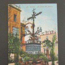 Postales: POSTAL SEVILLA. LA CRUZ DEL BARRIO. CIRCULADA AÑO 1942. . Lote 87286532