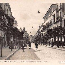 Postales: JÉREZ DE LA FRONTERA.- CALLE JOSÉ ANTONIO PRIMO DE RIVERA. Lote 87492788