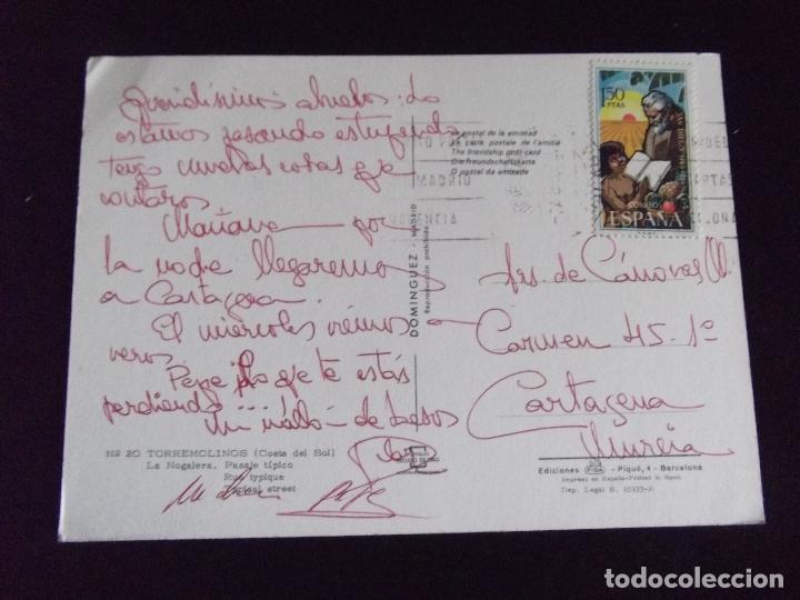 Postales: MALAGA-V43-COSTA DEL SOL-CIRCULADA-TORREMOLINOS-LA NOGALERA - Foto 2 - 87633392