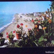 Postales: MALAGA-V43-COSTA DEL SOL-CIRCULADA-TORREMOLINOS-PLAYA DE LA CARIHUELA. Lote 87633476