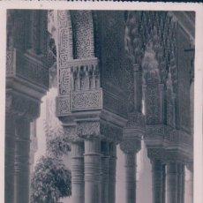 Postales: POSTAL GRANADA 25 - ALHAMBRA - PATIO DE LOS LEONES - DETALLE - LIBRERIA MADRID - CIRCULADA. Lote 88284652