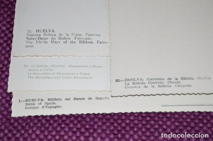 Postales: LOTE DE 20 POSTALES ANTIGUAS - HUELVA Y PROVINCIA - PRECIOSAS, MUY ANTIGUAS - AÑOS 60 - HAZME OFERTA - Foto 12 - 89547672